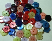 Flower Shape Buttons-Colorful Set of 60