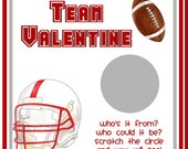 Football Personalized Valentine Scratch Off Cards