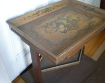 Vintage Painted Country French Tray Table/Very Pierre Deux