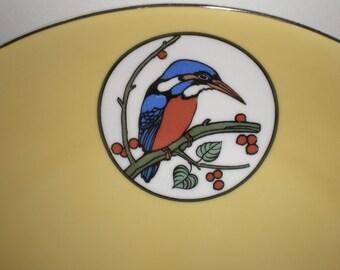 Vintage Bavarian China Serving Plate/Painted Bird