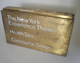 Industrial NYC Sign /Light Box circa 1970's-1980's