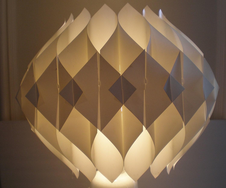 Mid century modern origami shade hanging fixture - Paper lighting fixtures ...