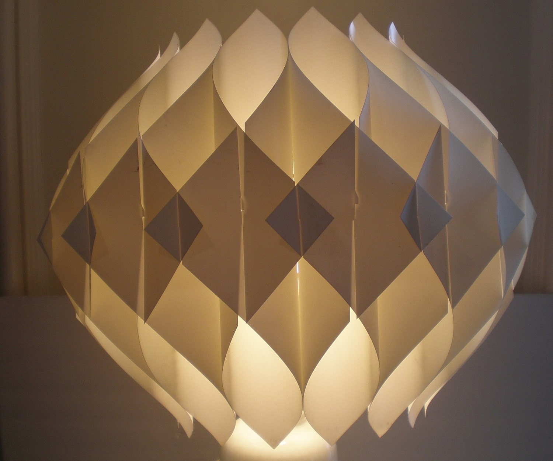 Mid century modern origami shade hanging fixture - Paper light fixtures ...