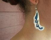 Vintage Turquoise Lightning Earrings '80s