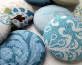 Fabric Magnets in Robins Egg Blue
