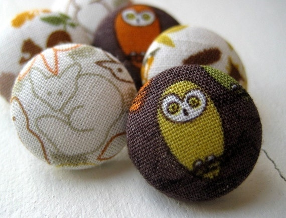 Fabric Pushpins in Forest Animals