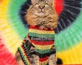 Rasta Cat Greeting Card