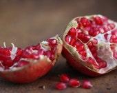 POMEGRANATE, fall, autumn, red, fruit, fine art photograph, home decor, kitchen wall art