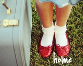 HOME, photograph, home decor, childrens wall art, wizard of oz, red, blue, dorothy, photography