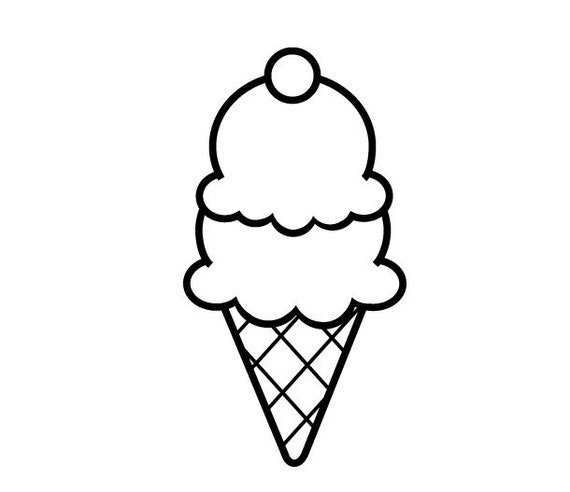 Handmade Clear Rubber Ice Cream Cone Stamp