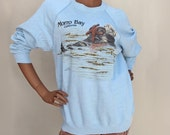 Vintage '80s Morro Bay California Otter Sweatshirt Nature