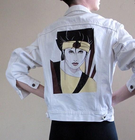 Levis White Denim Shirt Vintage 80s Levis White Denim