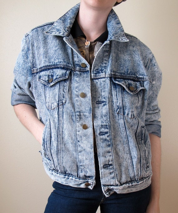 Vintage '80s Acid Washed Denim Jacket