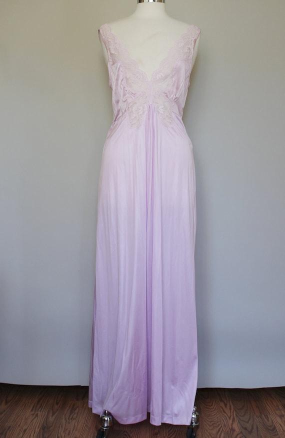 80s Vintage Plus Size Lavender Slip