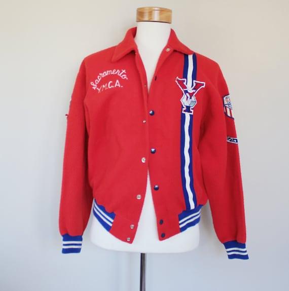 60s Vintage Sacremento YMCA Fleece Jacket - MEDIUM