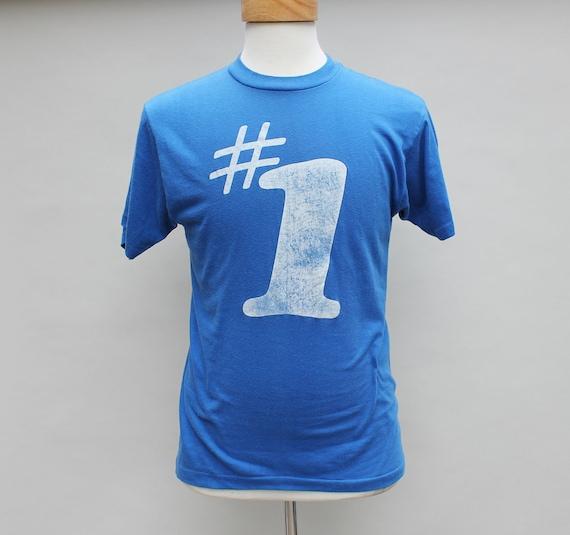 80s Vintage Number 1 T-Shirt - men, s/m