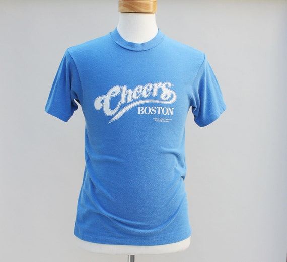 80s Vintage Cheers T-Shirt, blue, TV, small, men, television