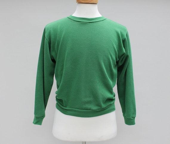 70s Vintage Green Sweatshirt - MEDIUM