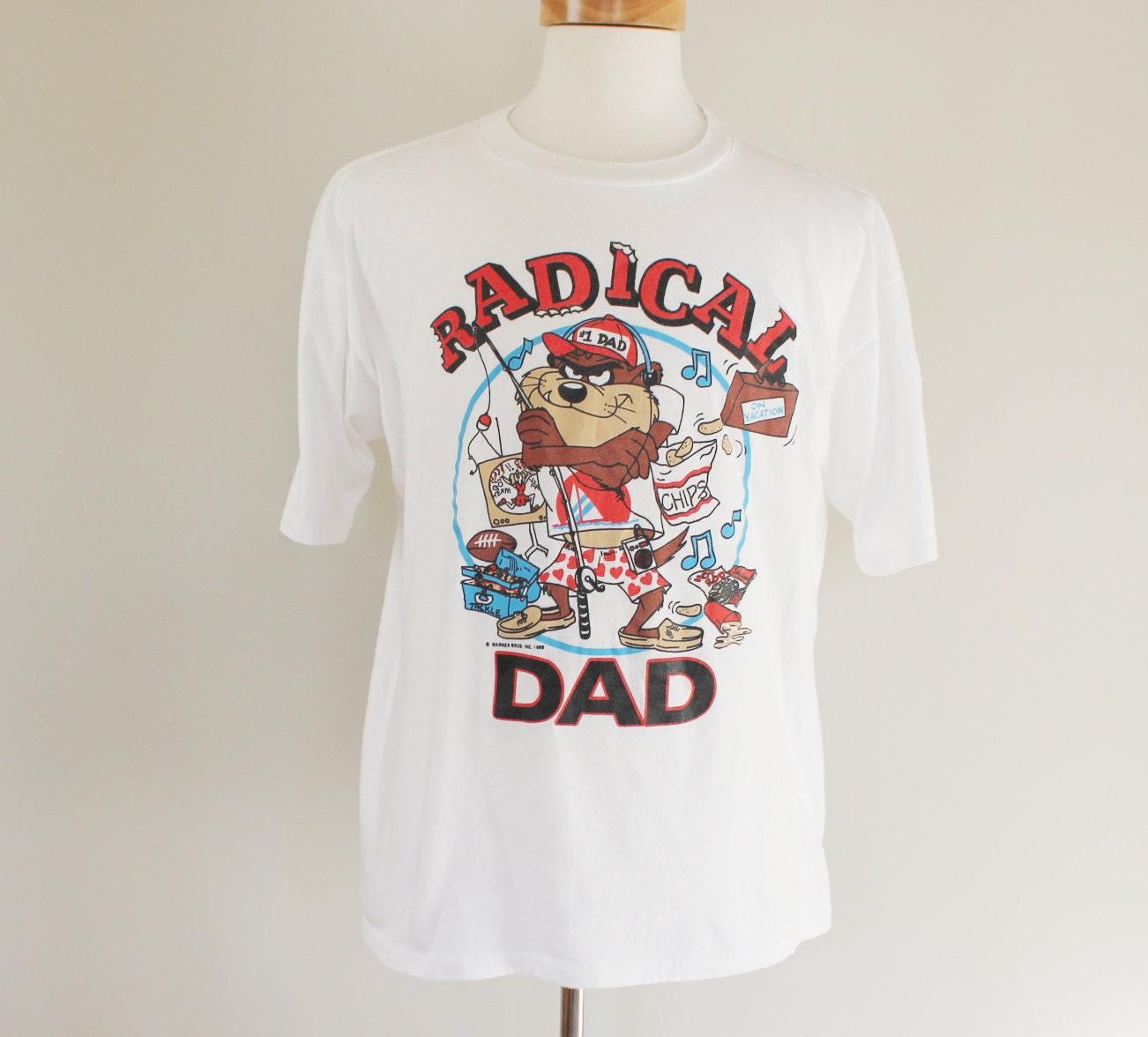 80s Vintage Tasmanian Devil Dad T Shirt Large