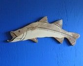 Snook Wall Plaque, Wall Hanging, Snook, Carved Snook Wall Plaque