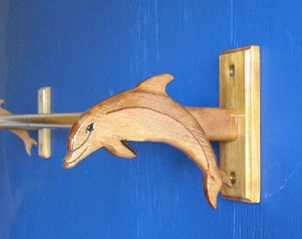 Dolphin, Porpoise Bottle-Nosed Towel Rack, Cabinet or Wall Mounted Towel or Toilet Roll Holder, Toilet Roll Holder, Towel Holder