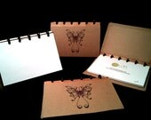 Disc Bound Notebook - Butterfly Design Cover - 4x6 Recipe Cards