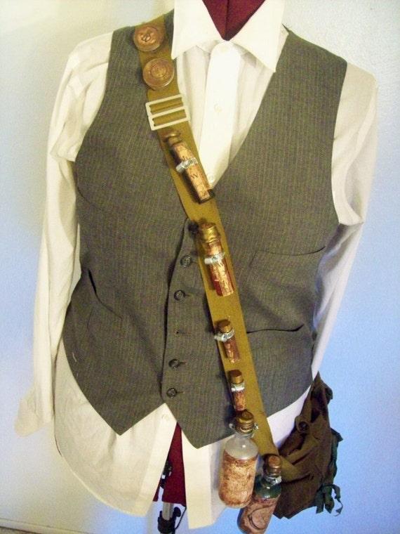 Alchemist S Bandoleer And Messenger Bag Steampunk Costume
