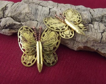 Brass Butterfly Charms