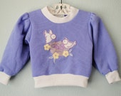 vintage toddler girl bird sweatshirt