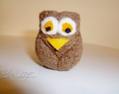 Mini Needle Felted Owl - Brown