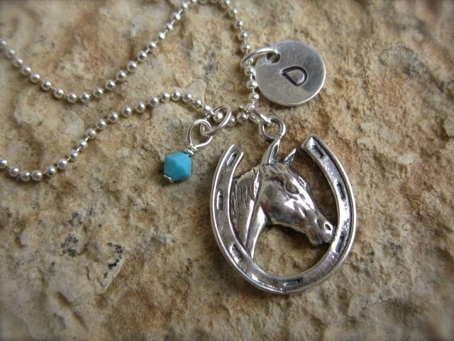 Custom Horse Head Charm Necklace