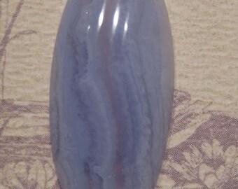 Blue Lace Agate .....   48 x  19 x 7mm  thick    ...  (BL48/19/7M)