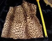 SALE geoffrey cat fur large piece from vintage coat