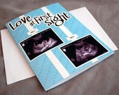 Custom Baby Shower Card with picture of Sonogram