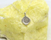 Spiral Sun necklace | Hill Tribe Sterling Silver Sun pendant | Sun necklace | Sunlight of the Spirit necklace | Silver Sun Charm necklace