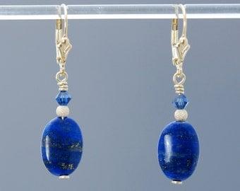 Lapis Lazuli earrings in Gold / Lapis earrings / Lapis Lazuli jewelry / Lapis Lazuli beads / Lapis Lazuli cosplay / SPIRITUAL ALIGNMENT