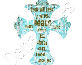 Christian scripture cross digital download art for print and craft  collage projects