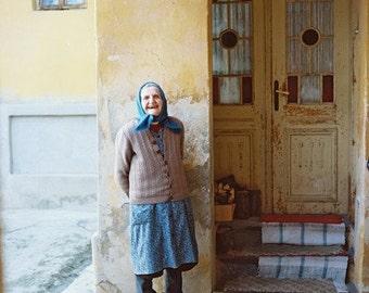 Blue Scarf- Fine Art Photography- Portrait- Slovakia