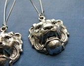 panthera leo lion earrings