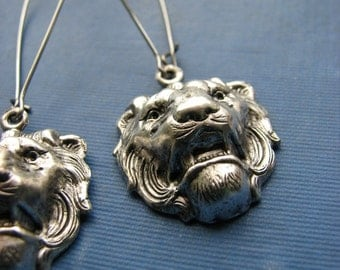 panthera leo lion earrings . SALE jewelry