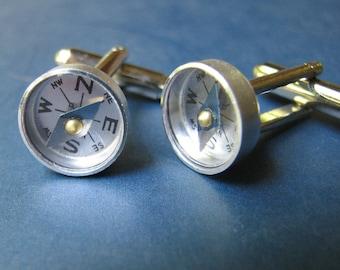 navigator compass cufflinks mens cuff links
