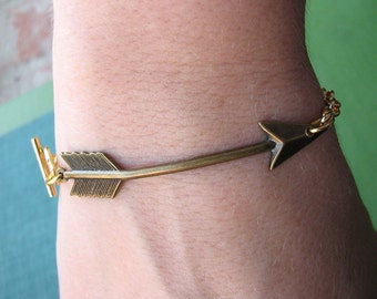 arrow bracelet - gold