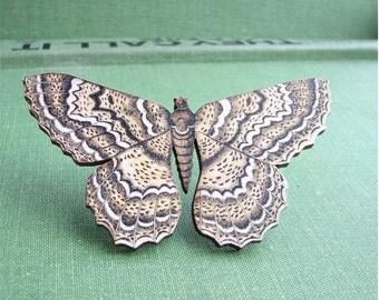 tulip tree beauty moth brooch pin - As Seen on The Dainty Squid Blog