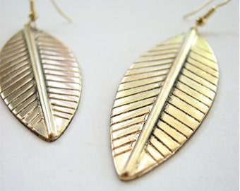 palm leaf earrings - tropical summer jewelry boho