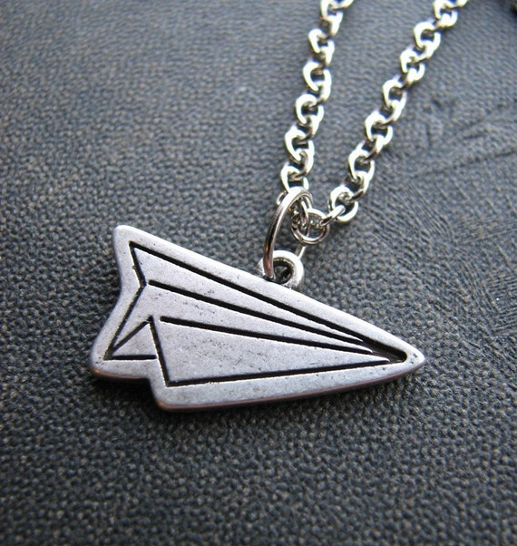 paper plane necklace - As seen on Outblush.com