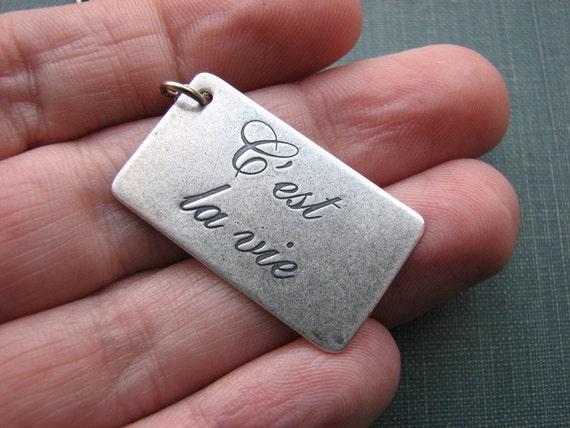 LAST ONE c'est la vie necklace / cursive type