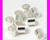 500pcs 1mm x 1mm Sterling Silver crimp bead tube spacers F34