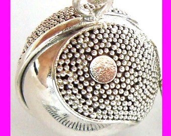 14mm YING YANG Sterling Silver Harmony Ball Pendant zen pregnancy bola baby charm  hm32