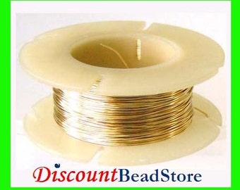 on Sale round beading wrapping crocheting wire 26 gauge half troy OZ  14k Gold Filled solid Round Wire Half Hard in spool