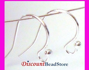 Sterling Silver Earring french hook Ear Wire  EarWires 925 stamped  E30 made in USA